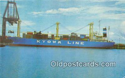 shi055092 - MS Kyowa Hibiscus Home Port Kobe, Japan Ship Postcard Post Card