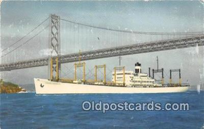 shi055101 - SS America Transport Outbound to the Orient Ship Postcard Post Card
