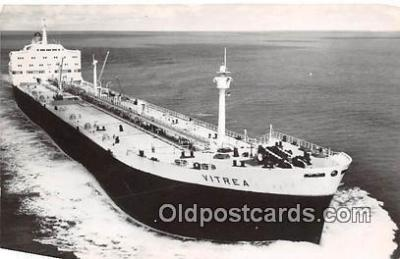 shi055118 - SS Vitrea Reder Shall Tankers NV Ship Postcard Post Card
