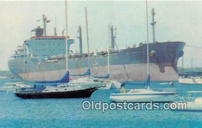 shi055137 - Mobil Marketer Singapore, Guam Ship Postcard Post Card
