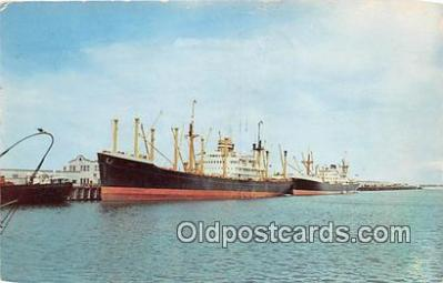 shi055152 - Port of Brownsville South Texas Ship Postcard Post Card