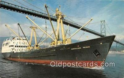 shi055155 - MV Northland Prince Lions Gate Bridge Ship Postcard Post Card