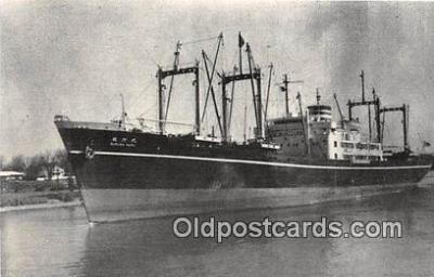 shi055160 - NV Suruga Maru Japanese Freighter, 1957 Ship Postcard Post Card