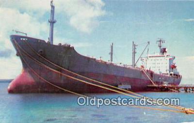 shi055165 - MS Conestoga Mobil Tanker, Port of Guam Ship Postcard Post Card