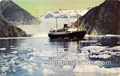shi055173 - Tracy Arm SS Glacier Queen, SS Yukon Star Ship Postcard Post Card