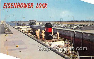 shi055186 - Eisenhower Lock Massena, NY USA Ship Postcard Post Card