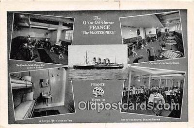 shi056134 - Giant Oil Burner SS France Ship Postcard Post Card