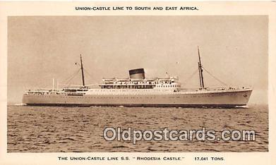shi056165 - Union Castle Line SS Rhodesia Castle Union Castle Line Ship Postcard Post Card