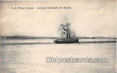 shi056192 - SS Prince George Yarmouth for Boston USA Ship Postcard Post Card
