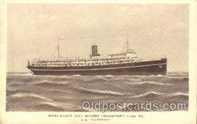 shi058170 - S.S. Alleghany Steamer, Steamers, Ship, Ships Postcard Postcards