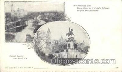 shi058172 - Capitol Square Richmond VA, USA Steamer, Steamers, Ship, Ships Postcard Postcards