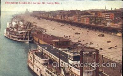 shi058191 - Docks & Levee, St. Louis, Mo, USA Steamer, Steamers, Ship, Ships Postcard Postcards