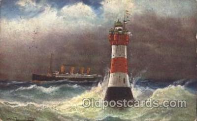 shi058216 - Weserleuchiturm Steamer, Steamers, Ship, Ships Postcard Postcards