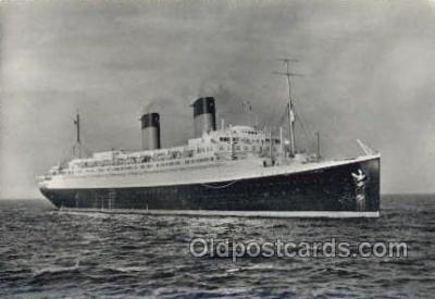 shi058380 - Ile De France, French Line Enlarged Continental Size Ship, Ships, Ocean Liner Postcard Postcards