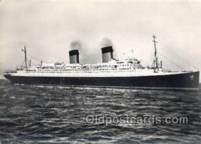 shi058388 - Ile De France, French Line Enlarged Continental Size Ship, Ships, OceanLiner Postcard Postcards