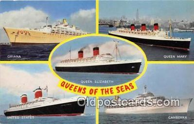 shi062041 - Oriana, Queen Mary Queen Elizabeth, United States, Canberra Ship Postcard Post Card