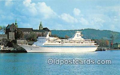 shi062063 - Royal Caribbean Cruise Line MS Sun Viking Ship Postcard Post Card