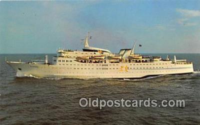 shi062064 - Sunward, Cruises Miami to Nassau Ship Postcard Post Card