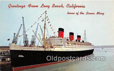 shi062137 - Queen Mary Long Beach, California USA Ship Postcard Post Card
