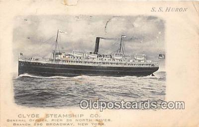 Clyde Steamship Co, SS Huron