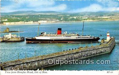 shi062283 - Douglas Head Isle of Man Ship Postcard Post Card