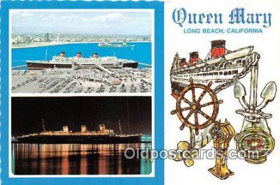 shi062322 - Queen Mary Long Beach, California Ship Postcard Post Card