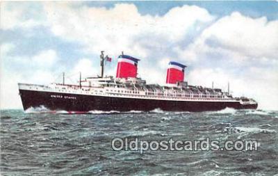 shi062339 - SS United States East Coast Ports Ship Postcard Post Card
