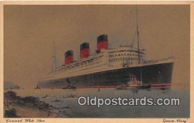 shi062392 - Queen Mary Cunard White Star Ship Postcard Post Card