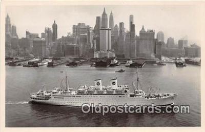 shi062470 - MS Gripsholm Swedish American Line Ship Postcard Post Card
