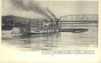 shi075210 - Ohio River Coal Boat Ferry Boats, Ship, Ships, Postcard Post Cards