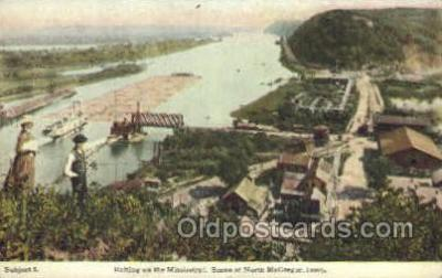 shi075216 - Rafting On The Mississippi Ferry Boats, Ship, Ships, Postcard Post Cards