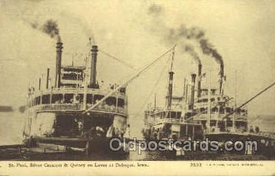 shi075224 - Silver Crescent And Quincy Ferry Boats, Ship, Ships, Postcard Post Cards