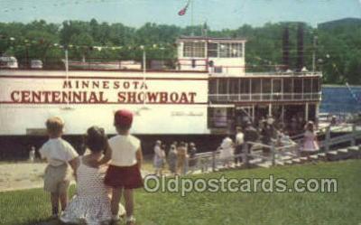 shi075233 - Minnesota Centennial Showboat Ferry Boats, Ship, Ships, Postcard Post Cards