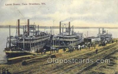 shi075238 - Levee Scene Ferry Boats, Ship, Ships, Postcard Post Cards