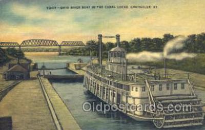 shi075253 - Ohio River Boat, Louisville, Kentucky, USA Ferry Boats, Ship, Ships, Postcard Post Cards