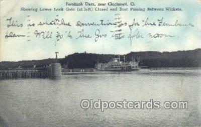 shi075261 - Fernbank Dam OH USA Ferry Boats, Ship, Ships, Postcard Post Cards