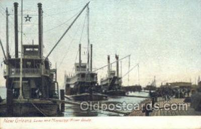 shi075267 - Mississippi River Boats Ferry Boats, Ship, Ships, Postcard Post Cards