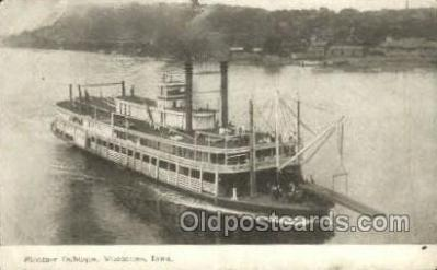 shi075679 - Dubuque Steamer, Steam Boat, Steamboat, Ship, Ships, Postcard Post Cards