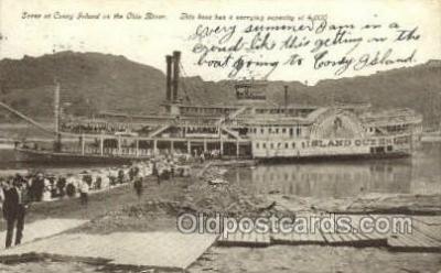shi075701 - Scene At Coney Island Steamer, Steam Boat, Steamboat, Ship, Ships, Postcard Post Cards