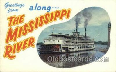 shi075727 - The Glamour of The Mississippi River Steamer, Steam Boat, Steamboat, Ship, Ships, Postcard Post Cards
