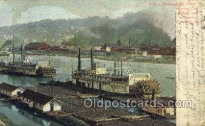 shi075764 - Mononghela River Ferry Boat, Ferries, Ship, Ships, Postcard Post Cards