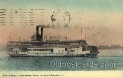 shi075801 - Davenport, Iowa, USA Ferry Boat, Ferries, Ship, Ships, Postcard Post Cards