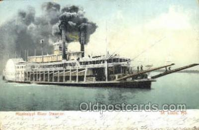 shi075806 - Mississippi River Steamer Ferry Boat, Ferries, Ship, Ships, Postcard Post Cards