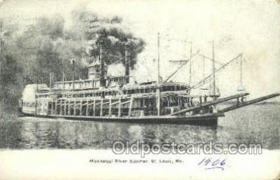 shi075809 - Mississippi River Steamer Ferry Boat, Ferries, Ship, Ships, Postcard Post Cards