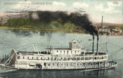 shi075813 - Steamer Columbia Ferry Boat, Ferries, Ship, Ships, Postcard Post Cards