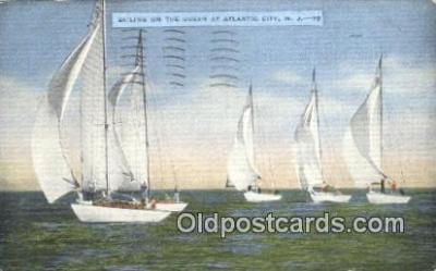 shi100307 - Atlantic City, New Jersey, NJ USA Sail Boat Postcard Post Card