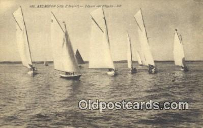 shi100308 - Arcachon Sail Boat Postcard Post Card