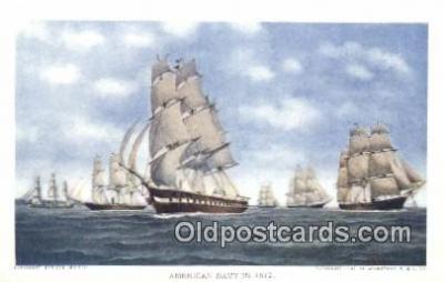 shi100313 - American Navy Sail Boat Postcard Post Card