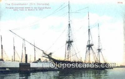 shi100341 - The Constitution, Old Ironsides, Boston, Massachusetts, MA USA Sail Boat Postcard Post Card