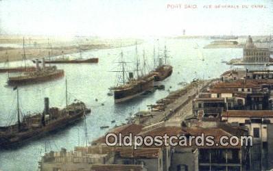 Port Said Vue Generale Du Canal